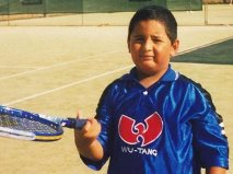 Kyrgios as a youngin
