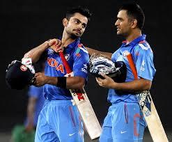 Dhoni and Kholi have again led Indian batting